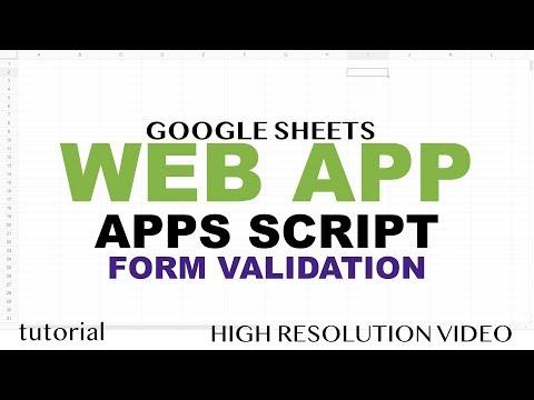 Form Validation HTML5 + JavaScript + RegEx - Google Apps Script Web App Tutorial - Part 10 thumbnail