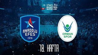 BSL 18. Hafta: Anadolu Efes - OGM Ormanspor