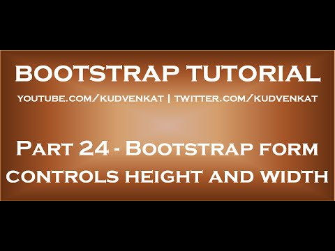 Bootstrap Form Controls Height And Width Youtube