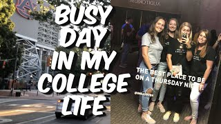 BUSY DAY IN MY COLLEGE LIFE | where I work, pink rep event, church
