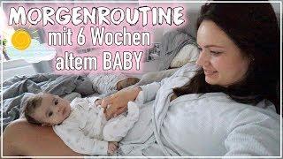 Morgen Routine mit Baby👶🏻 • 6 Wochen alt • Mama Alltag • Maria Castielle