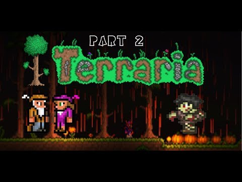 Terraria | Lets play | Part 2 | Blood moon and merchant house building |