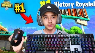 FASTEST 14 YEAR OLD PC BUILDER WITH KEYBOARD CAM in Fortnite: Battle Royale!