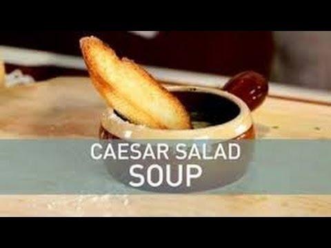 Food Deconstructed - Caesar Salad Soup