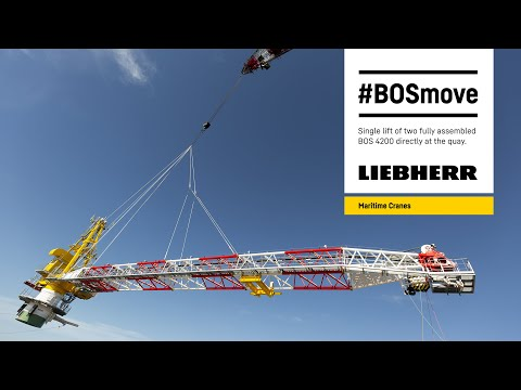 Liebherr - #BOSmove - Single lift of two fully assembled BOS 4200