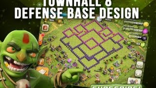 Repeat youtube video Clash of Clans | Whirl Pool Base Design | Townhall 8 Defense Base