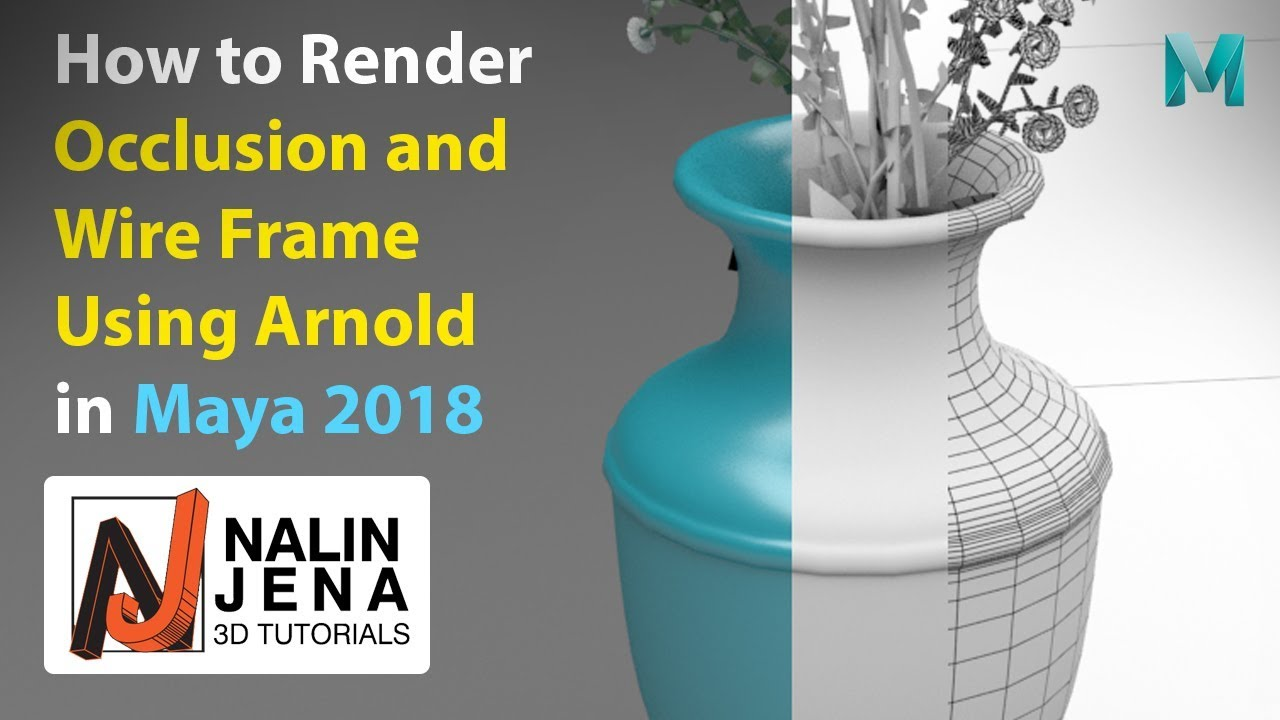How to Render Occlusion and Wire frame using Arnold in Maya 2018