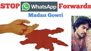 STOP WhatsApp Forwards | Tamil | Madan Gowri | MG