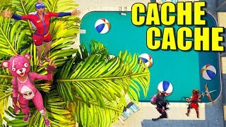 CACHE CACHE PISCINE !! FORTNITE
