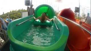 the boomerang water slide at waterbom bali