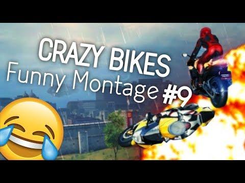 CRAZY BIKES!!! - FUNNY ASPHALT 8 MONTAGE #9 (Funny Moments and Stunts)