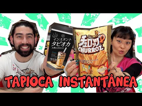 TAPIOCA INSTANTÂNEA e SALGADINHO DE CHURROS - Japão Nosso De Cada Dia