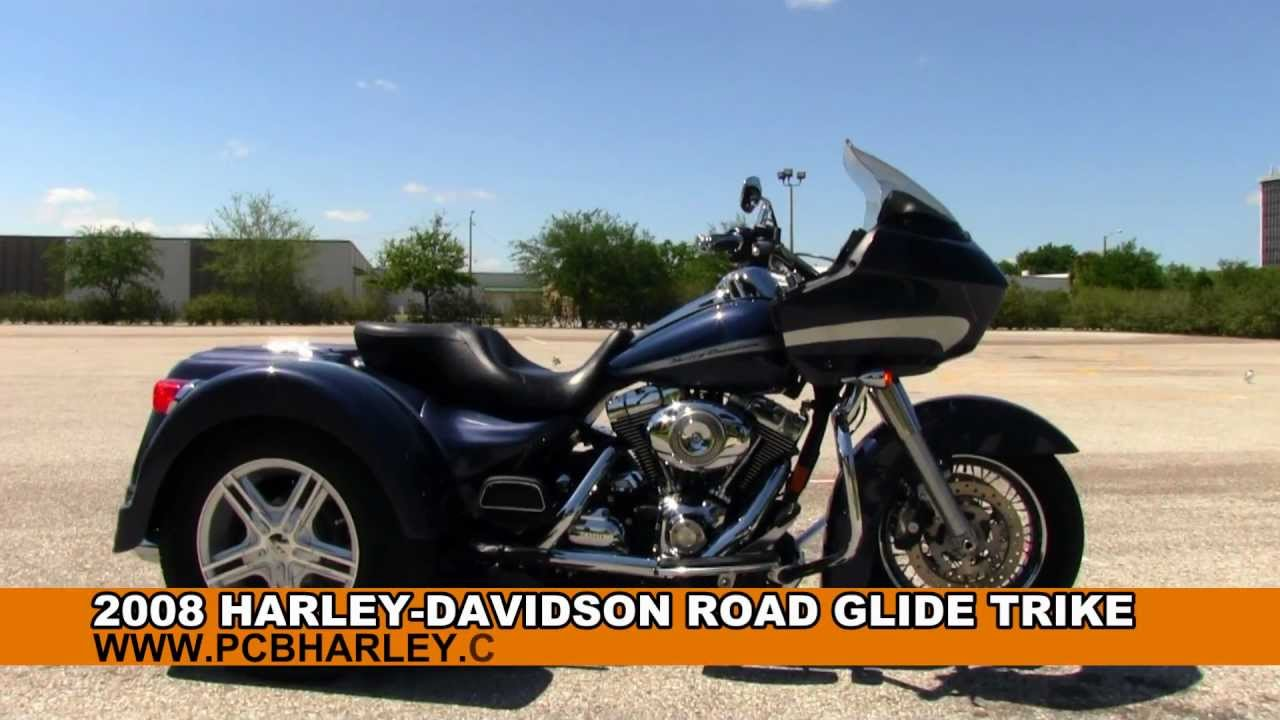 Harley Trikes For Sale >> Used 2008 Harley-Davidson FLTR Road Glide Trike for Sale - Panama City Beach, FL - YouTube