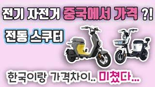 전기 자전거 중국에서 가격은? 한국이랑 가격차이 실화임…