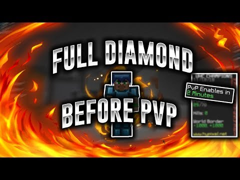 Mining Full Diamond Before PVP (Hypixel UHC Highlights)