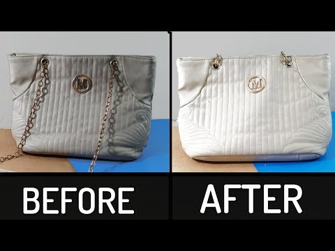 How to Clean Colored Leather Hand Bag | At Home