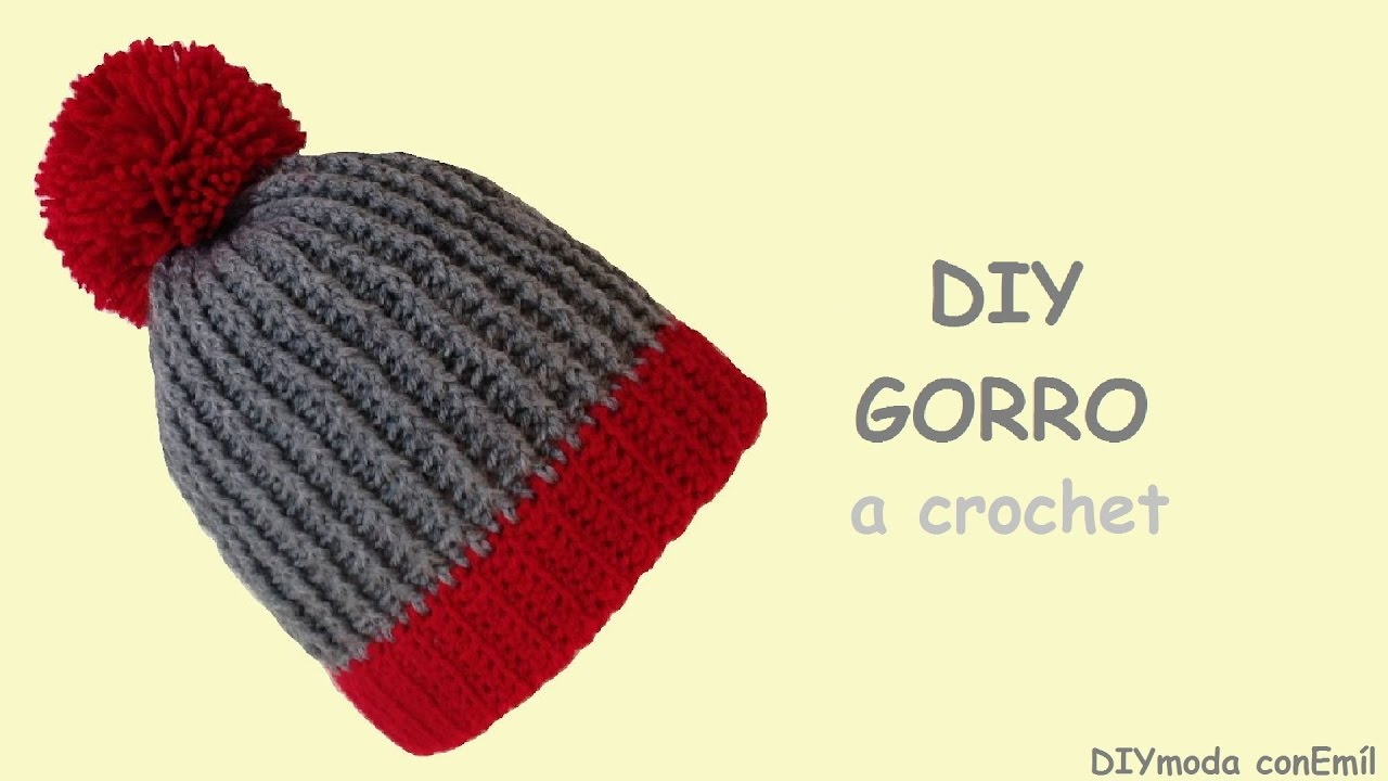 Cómo tejer gorro en crochet - YouTube