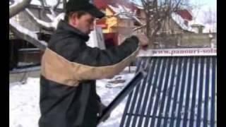 Panouri solare eficienta pe timp de iarna