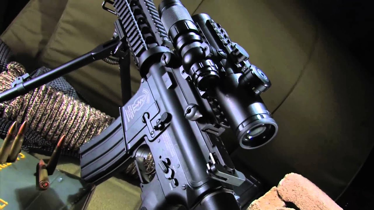 Ar15 Tactical Scope Combo With Green Laser And Flashlight