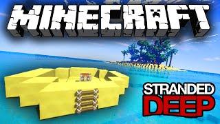 Minecraft STRANDED DEEP! (Minecraft Survival Island) #1 w/Vikkstar123