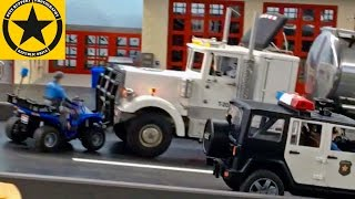 BRUDER Toys✅ TRUCKS POLICE Academy Episodes 1-5 LONG PLAY