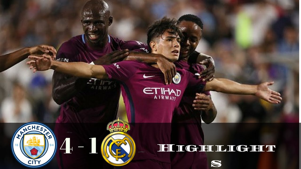 Download Manchester City vs Real Madrid 4 1   All Goals   Extended Highlights   Friendly 27 07 2017 HD
