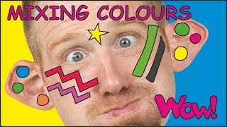 Mixing Colours with Steve and Maggie NEW   Story for Kids   English Speaking with Wow English TV