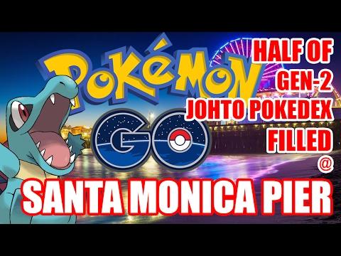POKEMON GO GEN 2 DAY 1 @ SANTA MONICA PIER || HALF JOHTO POKEDEX COMPLETE!!!