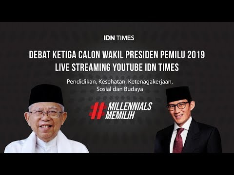 LIVE! Debat Ketiga Cawapres Pilpres 2019 - Maruf Amin Vs Sandiaga Uno