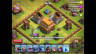 Clash of Clans One Troop,Three Stars Unusual Attacks of All Kinds 2016