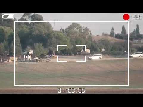 """תיעוד ירי נ""""ט על אוטובוס בעוטף 12/11/18 HAMAS fire ATGM from Gaza at IDF bus"""