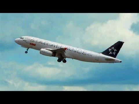 Decolagem avião Airbus A320 TAM Star Alliance | Aeroporto Internacional de Brasília Airport