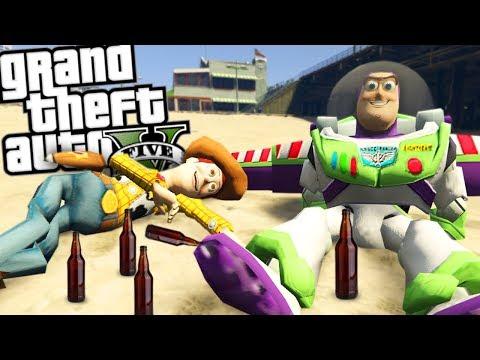 GTA 5 Mods - THE DRUNK TOY STORY MOD w/ WOODY & BUZZ (GTA 5 Mods Gameplay)