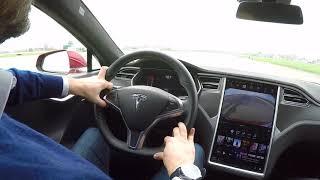 Tesla P100D - Accelerazione su pista aeroportuale a Parma