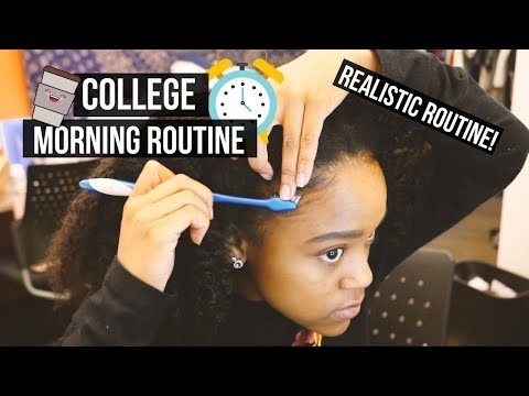 MY COLLEGE MORNING ROUTINE! 2017
