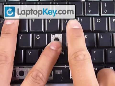 Repair Fix Keyboard Key | DV6 DV4 DV7 DV7-1000 | HP Replacement Repair Guide