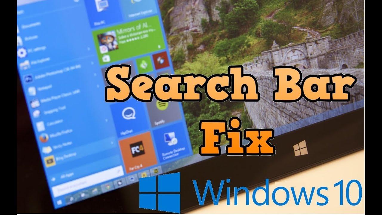 Windows 10 Search Bar Not Working FIX