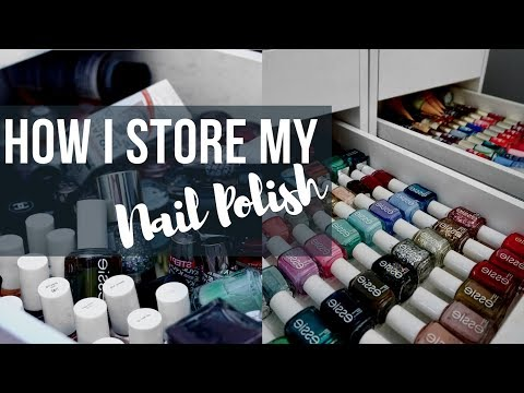 Nail Polish Storage | How I Organize My Nail Polish