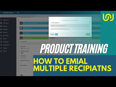 Invoice Multiple Email Address Selection