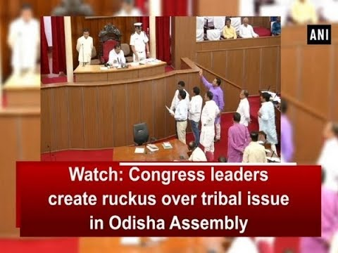Watch: Congress leaders create ruckus over tribal issue in Odisha Assembly - Odisha News
