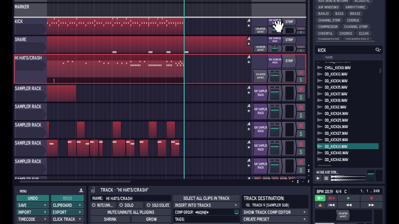 How to setup My Step Clips in my Tracktion DAW