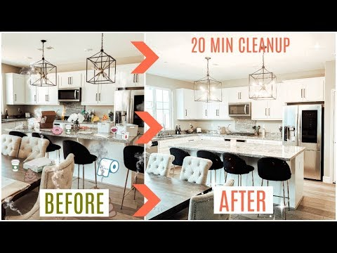 CLEAN My ENTIRE KITCHEN With Me + ORGANIZE PANTRY *SATISFYING*