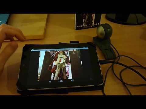 Nexus 7 - Showing a webcam attached to a Nexus 7 via USB OTG cable