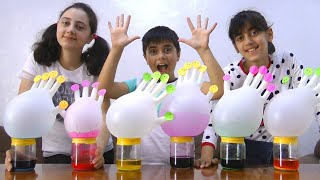 Learn colors with Gloves and Guka Family Show