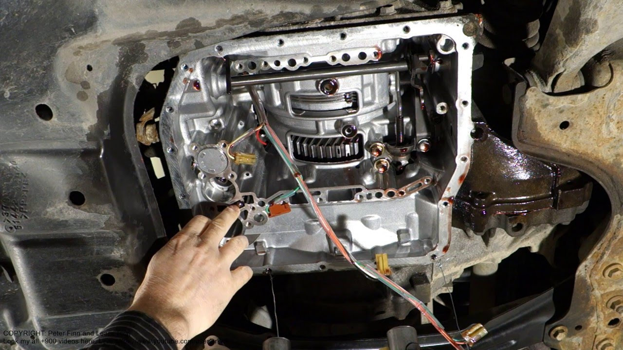 Check ball and spring part location in automatic transmission ...
