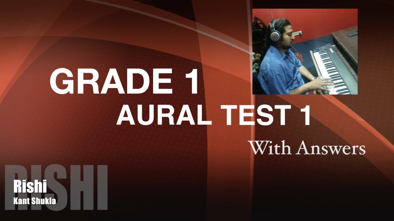 Grade 1 - Practice Aural Test 1 with Answer for Trinity Exam