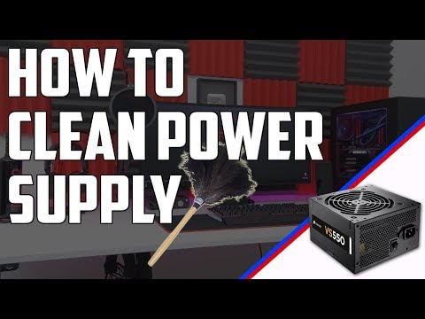 HOW TO CLEAN THE POWER SUPPLY FAN (PSU)[MODULAR AND NOT]