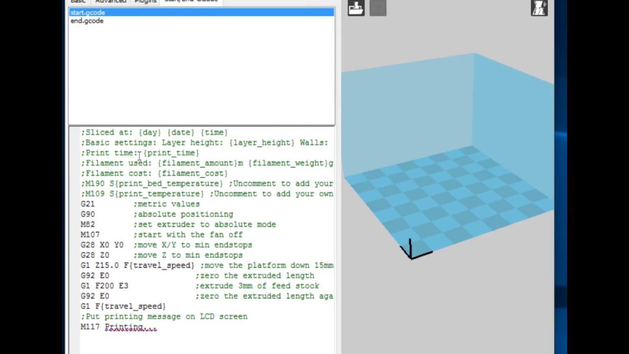 Starting & Ending G-code Script Locations [MP Mini Delta / Malyan