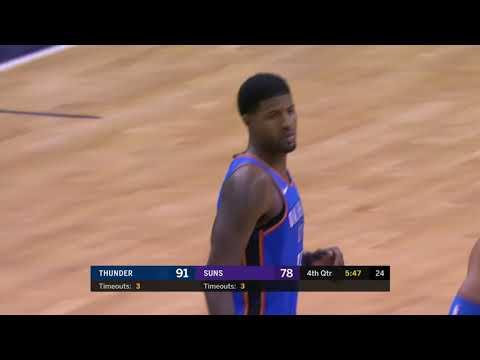 Oklahoma City Thunder vs Phoenix Suns : November 17, 2018