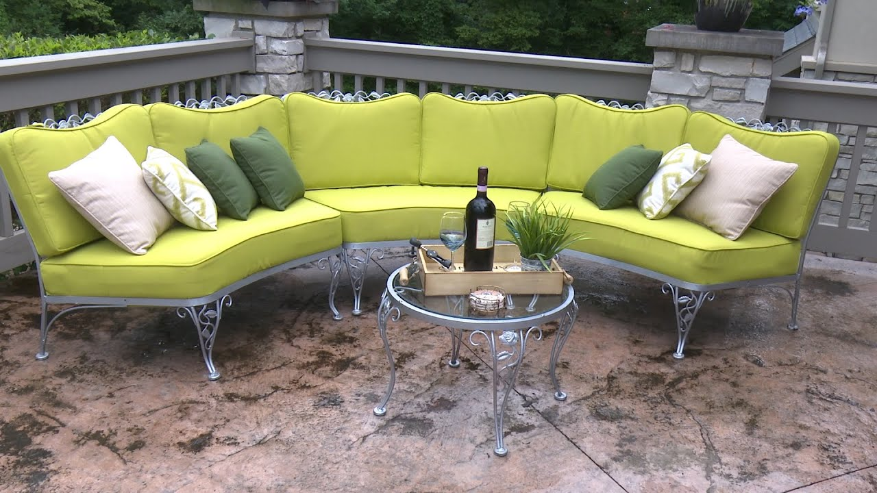 how to make cushions for a curved patio set - Patio Bench Cushions